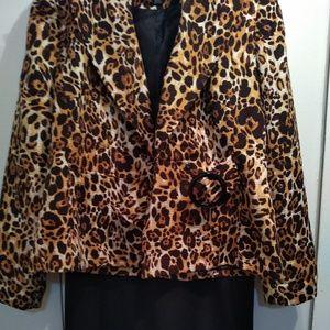 Isabella Animal Print Jacket Sz 12